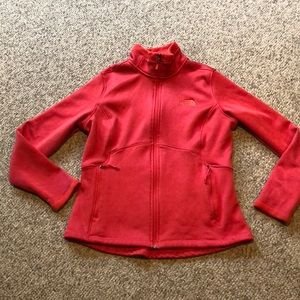 The North Face Red Zip up front Jacket size Large